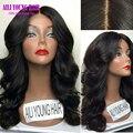Необработанные Виргинские Бразильские Glueless 150 Плотность Человеческих Волос Полный Шнурок парики Объемная Волна Фронта Шнурка Человеческих Волос Парики Для Черного женщины