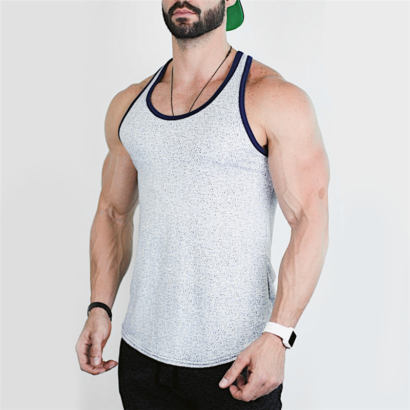 New Mens Sleeveless   tank     top   Summer pure color Cotton Male   Tank     Tops   gyms Clothing Bodybuilding Undershirt Golds Fitness vest