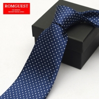 Polka Dot Ties Men Romguest 2017 Cool Men S Business Suit Blue Necktie 9cm Hotel Unit