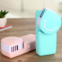Creative Handheld USB Battery Without Vanes Small Fan Air Conditioning Fans Pockets Portable Mini Fan Water