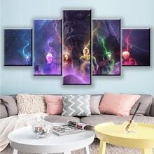 Movie Avengers Endgame Hero Character warrior 5 Piece Picture Home Decoration For Living Room HD Print Wall Art Canvas Painting