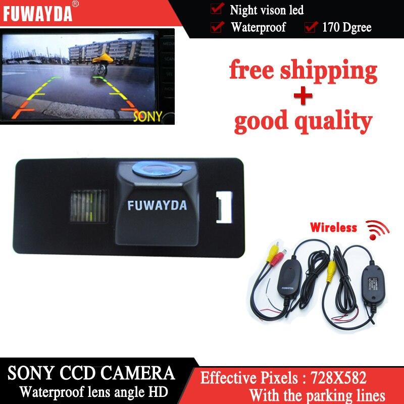Fuwayda 170 Угол объектива беспроводной водить автомобиль парковочная камера заднего вида для HD Sony CCD Audi A1 <font><b>A4</b></font> (<font><b>B8</b></font>) a5 S5 Q5 TT/Passat R36 5d