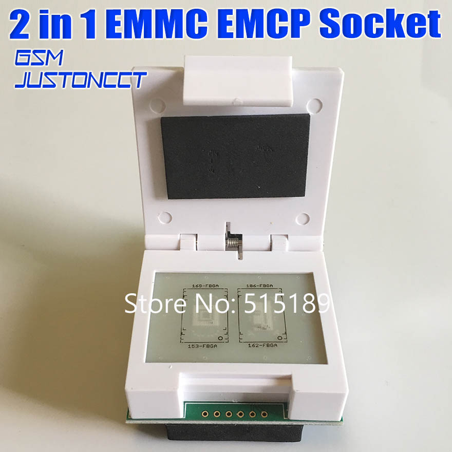 2 in 1 EMMC EMCP Socket 169 FBGA 153 FBGA 162 FBGA 186 FBGA Test Socket