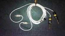 Симметричные линии сбалансированный провода сбалансированный кабель diy наушников провода Чистой серебряной проволоки