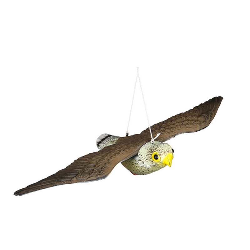Outdoor Repeller Falcon Bird Ornaments Realistic Flying Bird Hawk Pigeon Decoy Pest Control Garden Scarer Scarecrow Ornament|Garden Statues & Sculptures| |  - title=