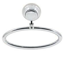 Хромированный полотенец присоски круг всасывания вешалка abs стены комната ванная держатель