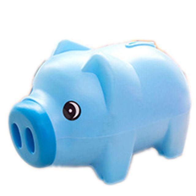 Money Bo Cute Plastic Piggy Bank Pig Cash Coin Saving Box Children Toy Kids Gift