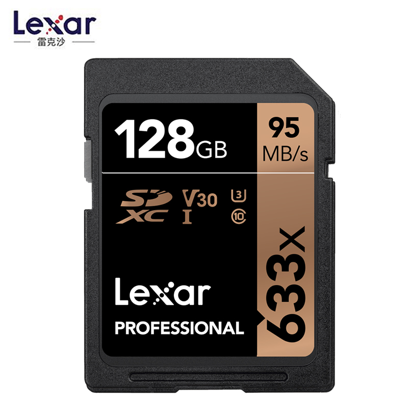 Image 2 - Promotion!!! Lexar 32GB U1 64GB 128GB 256GB U3 SD SDHC Card Class 10 95M/s 633x SDXC Memory Card For 3D 4K video Camera-in Memory Cards from Computer & Office