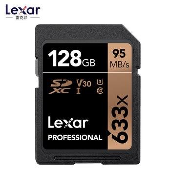 Promotion!!! Lexar 64GB 128GB 256GB U3 32GB 16GB U1SD SDHC Card Class 10 95M/s 633x SDXC Memory Card For 3D 4K video Camera