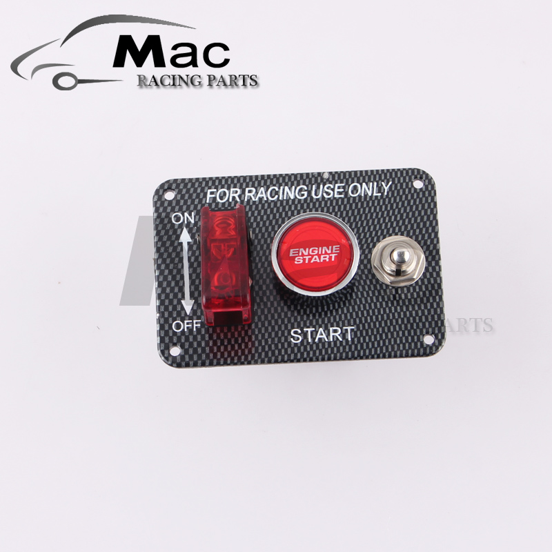 HOT SALE Car Accessory 12V LED Toggle Ignition Switch Panel Engine Start Push Button For Racing Car one