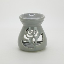 Color Rose Candle Incense Censer Ceramic Aroma Oil Burner Home Fragrance Lamps Party Decoration SK123