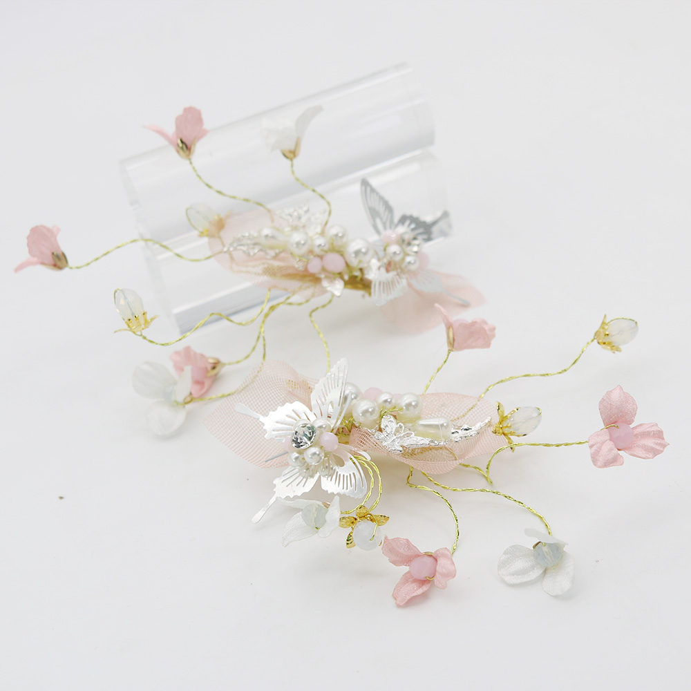 Lovely Girls Children Prom Party Flower Hairpins Crystal Brides ...