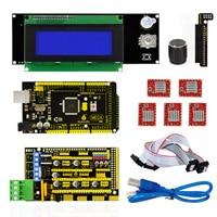 Free Shipping Mega 2560 R3 RAMPS 1 4 Controller 5pcs A4988 Stepper Driver Module 2004 Controller