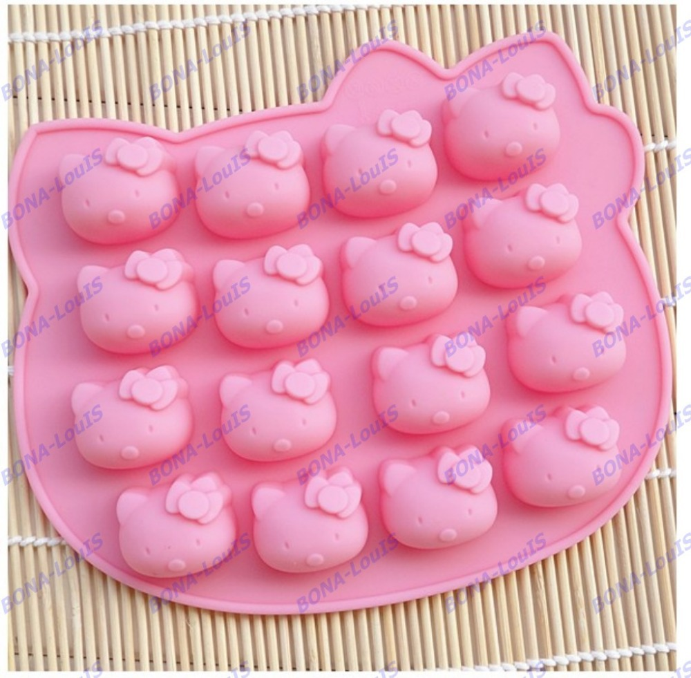 2PCS Hello kitty silicone Chocolate mold microwave oven pan cake