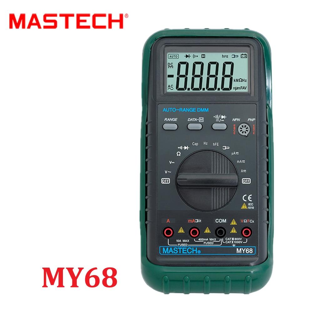 Digital Multimeter MASTECH MY68 Auto Range pocket DC/AC Voltage Current Resistance Capacitor Tecrep Tester Meter Diagnostic-tool  цены