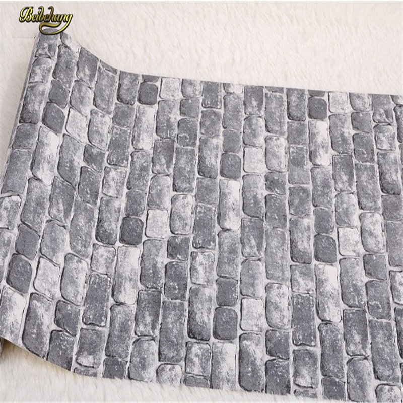 beibehang PVC contact paper vintage brick embossed textured wall wallpaper roll 3D modern wallcovering papel de parede modern vintage pvc 3d stone brick printing style vinyl waterproof pattern wallpaper wall paper roll papel de parede 10m