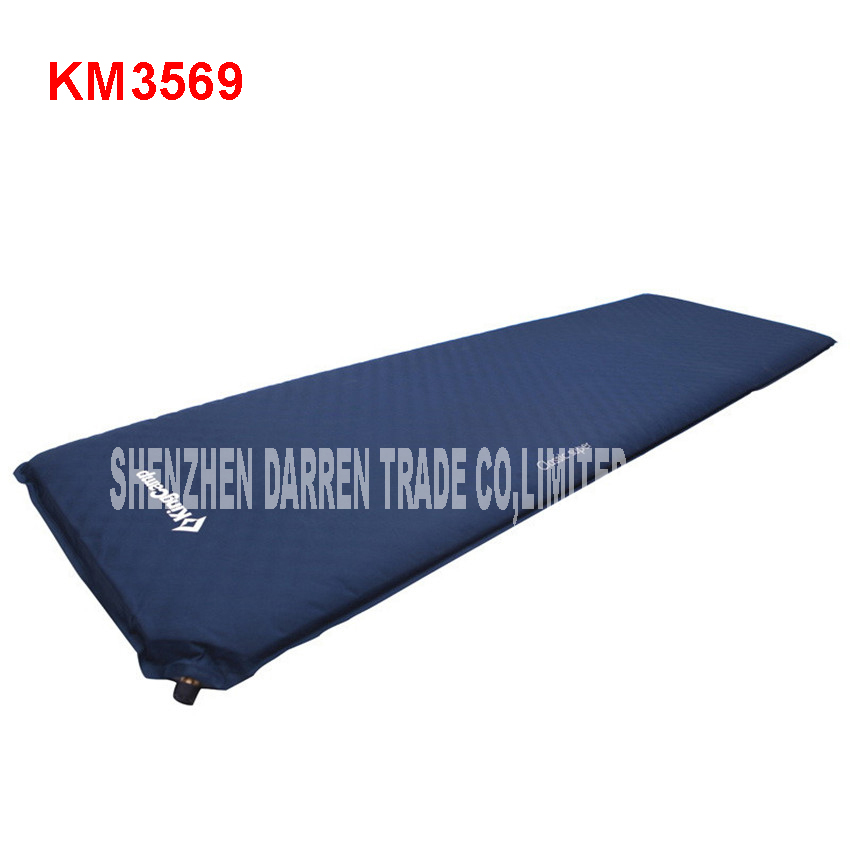 KM3569 Automatic filling air cushion Waterproof Pad Waterproof Camping Carpet for Outdoor Trekking 150D polyester Oxford PVC 500g sqm waterproof oxford cloth 420d thick pvc fabric waterproof material