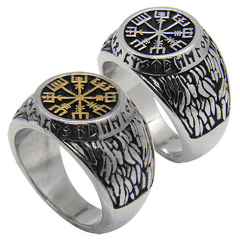 Rany&Roy New Size 7-14 Vikings Golden Silver Ring 316L Stainless Steel Fashion Jewelry