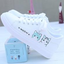 Zapatillas de deporte para mujer, zapatos vulcanizados a la moda, zapatos de plataforma de cuero Pu para mujer, zapatos informales blancos con cordones para mujer