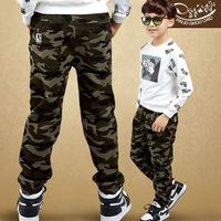 Male Child Camouflage Pants 2017 New Summer Big Boys Casual Pants Full Length Trousers Kids Spring