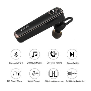 Image 2 - Bluetooth Earphone 20 Hrs Working V5.0 Headset Wireless Earbud Earphone Hands free Stereo With Mic  For Car Driving Phone Sport