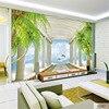 QINGCHUN Custom Print 3D Fabric Textile Wallcoverings For Walls Cloth Murals Matt Silk For Living Room