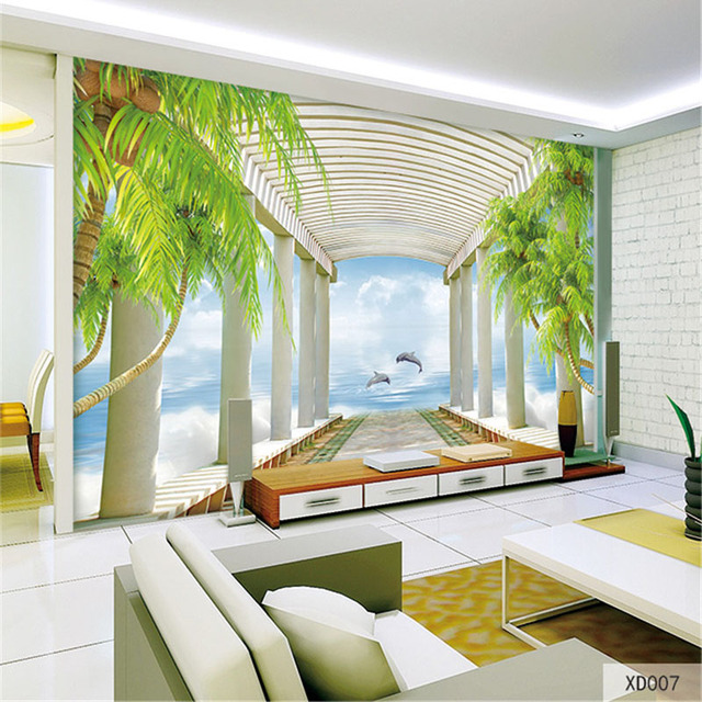 QINGCHUN Custom Print 3D Fabric Textile Wallcoverings For Walls