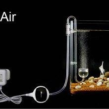 Воздушный кислородный диффузор на крючке, мини нано распылитель, воздушный насос, акриловый пластиковый супер тонкий счетчик пузырей, аквариумный аквариум