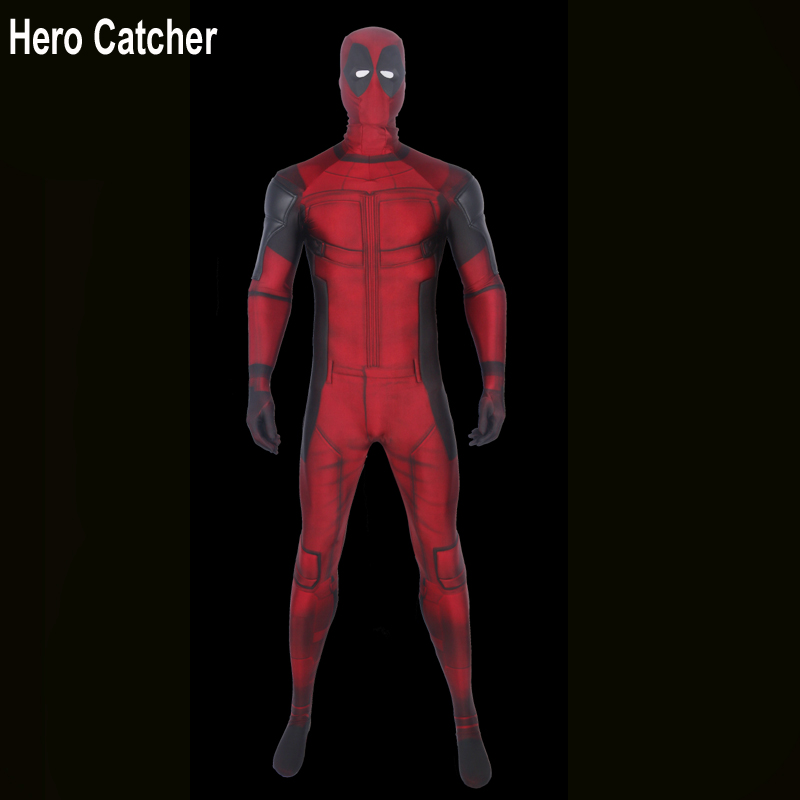 Hero Catcher Top Quality Deadpool Costume Muscle Padding Deadpool Cosplay Costume For Halloween