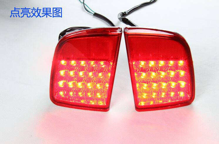 светодиодный задний фонарь, задний бампер свет противотуманные фары для Ленд Крузер FJ200 2008-15, высокое качество, одна пара