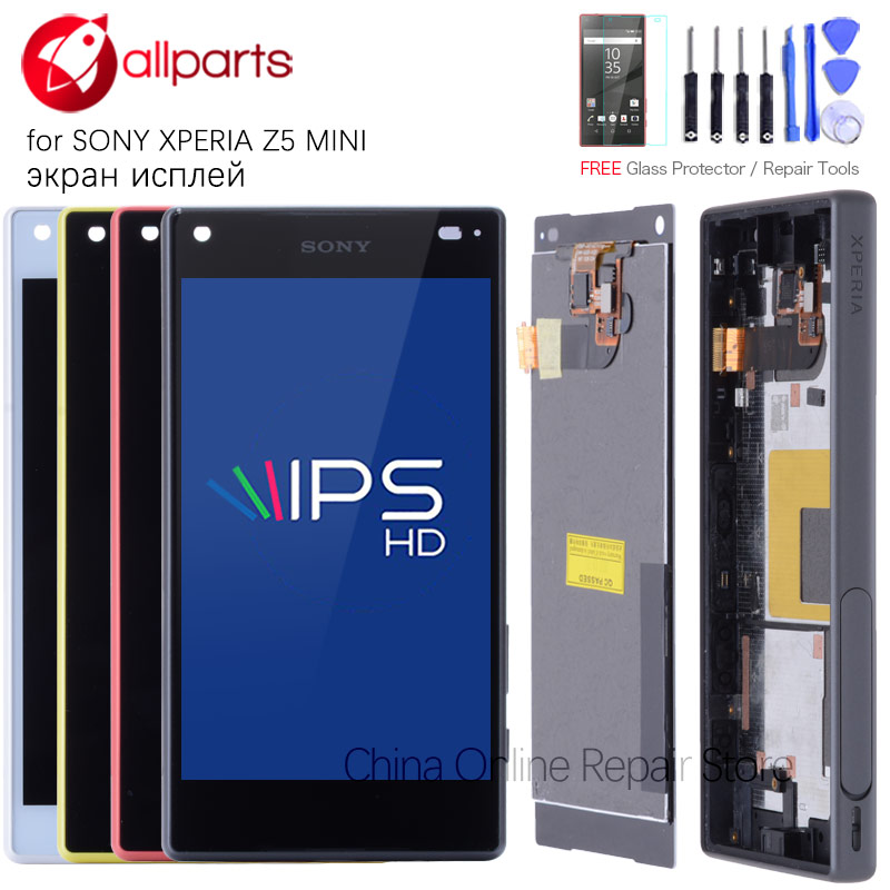 Original 4.6'' For SONY Xperia Z5 Compact LCD Touch Screen Z5 MINI Display Digitizer Assembly E5823 E5803