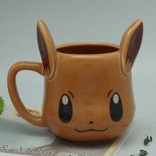 Милые Пикачу Eevee Кофе кружка Pocket Monster Чай чашки Керамика фарфоровые чашки Кружки