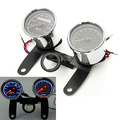 12V High Quality 0-180km/h Universal LED Motorcycle Tachometer + Odometer Speedometer Gauge With Bracket Free Shipping