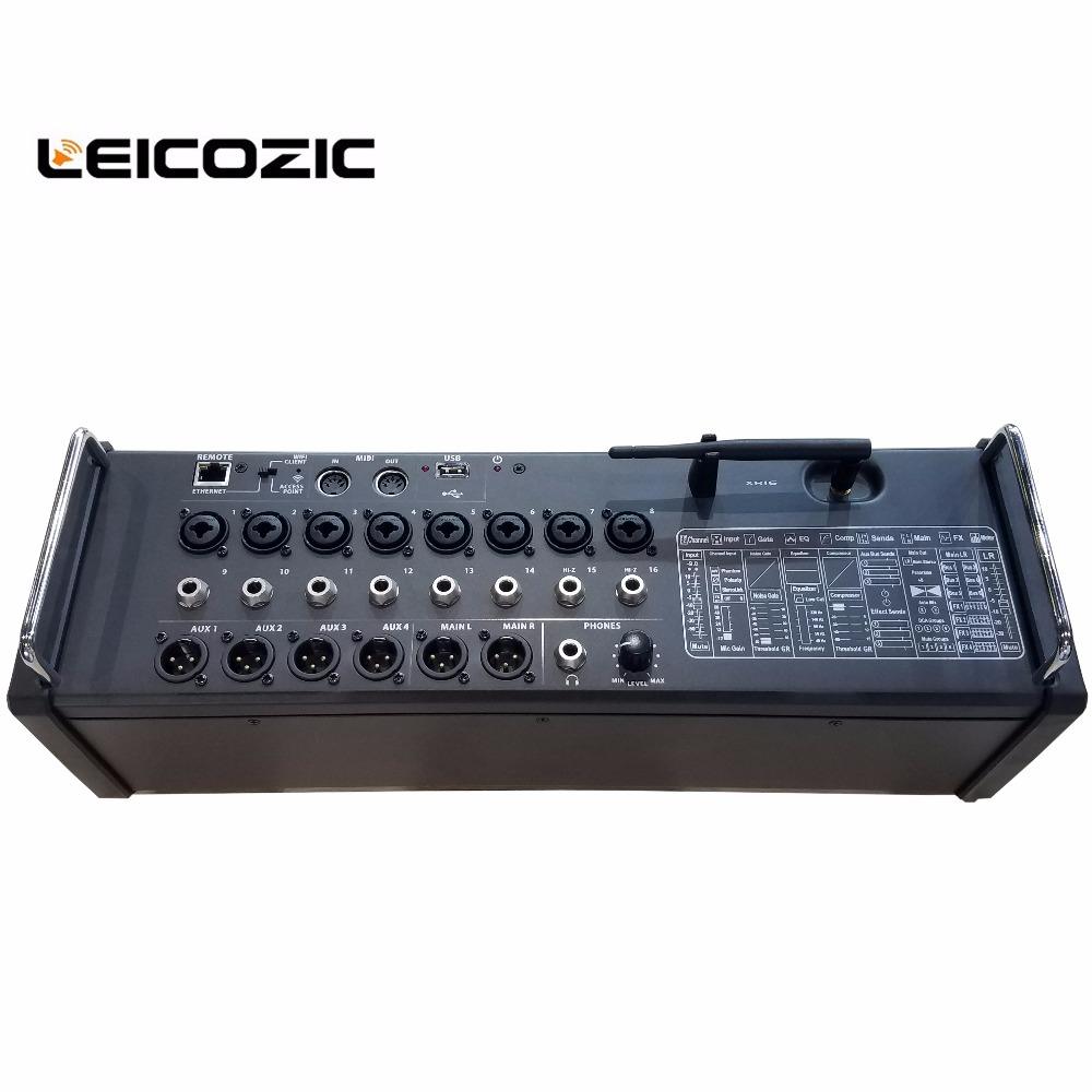 Back To Search Resultsconsumer Electronics Energetic Leicozic 16 Input Digital Mixer For Ipad/android Tablets Integrated Wifi Module & Usb Stereo Recorder Pro Digital Mixing Console