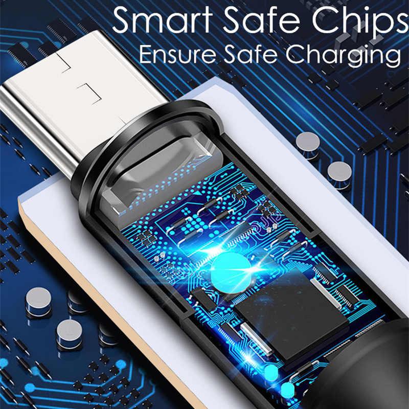 5A Super Charging 3 in 1 Fast Charger สาย USB สาย USB Type C สำหรับ Huawei Mate 20 P20 สำหรับ iPhone Samsung Xiaomi