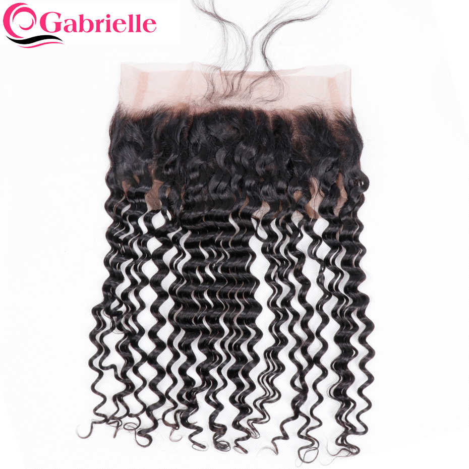 Габриэль бразильский глубокая волна 360 Кружева Фронтальная предварительно сорвал с ребенком волос свободной части 100% Номера для человеческих волос натуральный цвет