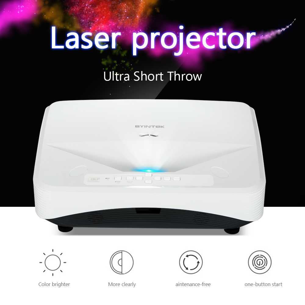 BYINTEK LW300UST Ultra Short throw laser Video Projector for Home Theater Education Business Support 1080P FUll HD (3)