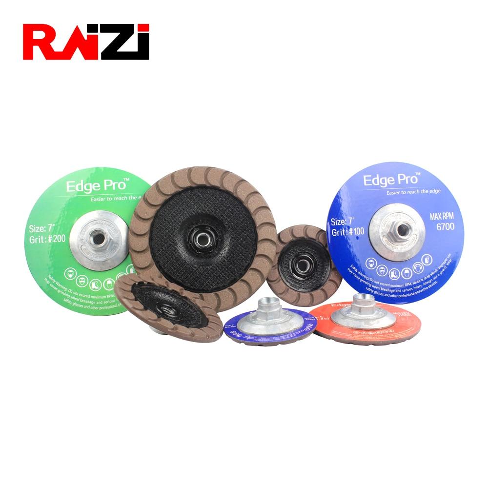 "Raizi 4,5,7 inch concrete grinding wheel ceramic bond edge finish diamond cup grinding wheel thread M14/5 8""-11 grit 30-400"