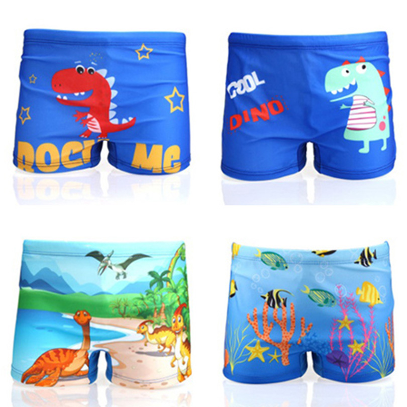 1-10Year Baby Boys Swimming Trunks Cartoon Printed Bathing Trunks Swimwear Toddler Boy Swimming Shorts Pool Short Pant Children