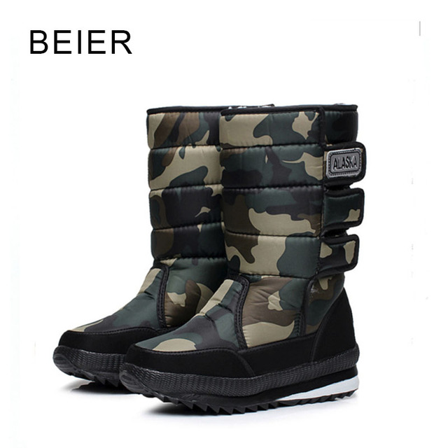2016 winter warm men's thickening platforms waterproof shoes military desert male knee-high snow boots outdoor hunting botas 47