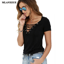 Women Blouses 2017 Summer Sexy V Collar Woman Shirt Cross Bandage Blouses Short-Sleeved Casual Hollow Tops Multicolor Plus Size