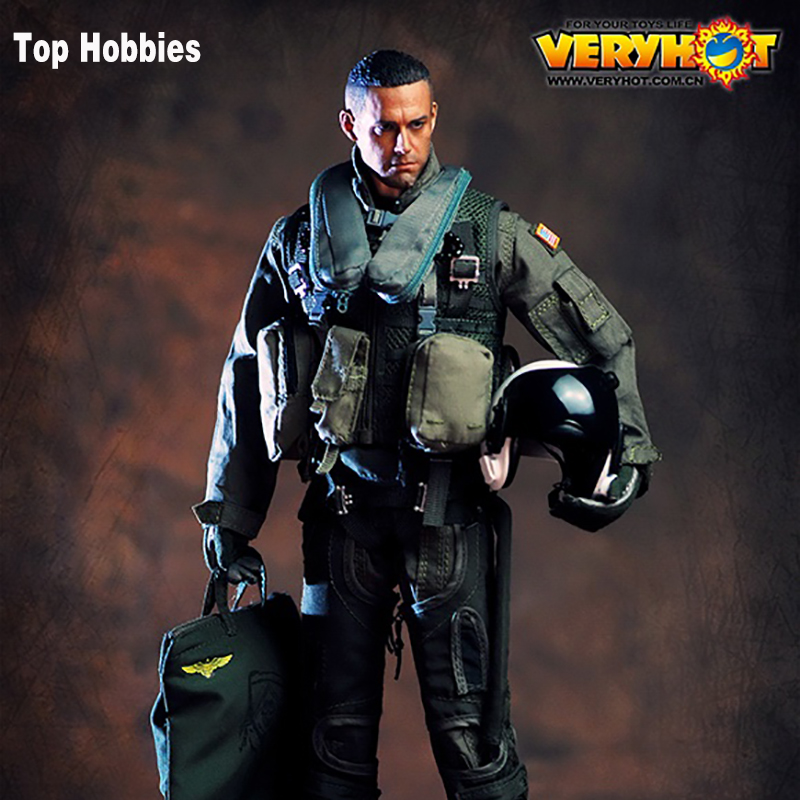 HOT FIGURE TOYS VERYHOT 1/6 VH1049 101st US Navy combat squadron pilot Equipment suit Dark Sickle Hand/Relentless Reaper Death