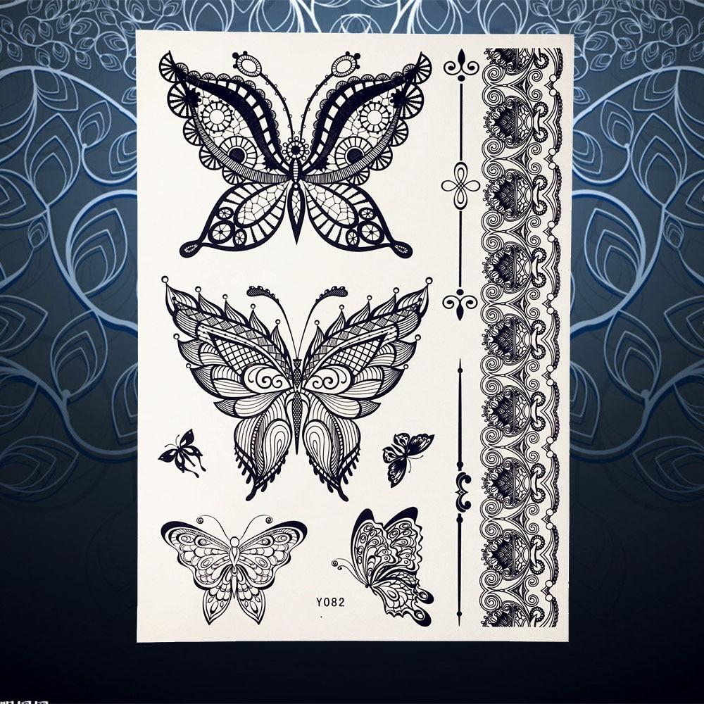 Butterfly Henna Tattoo: Aliexpress.com : Buy Large Size Black Henna Temporary
