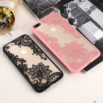 Case For iPhone 6S 6 7 8 Plus XS Max Cover 3D Lace Flower Phone Shell For iPhone 5S 5 SE XR X 10 Sexy Lace Cases Capa