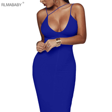Sexy Night Club Backless Long Dress Women V Neck Sleeveless Spaghetti Strap Dress Elegant Party Bodycon Dress