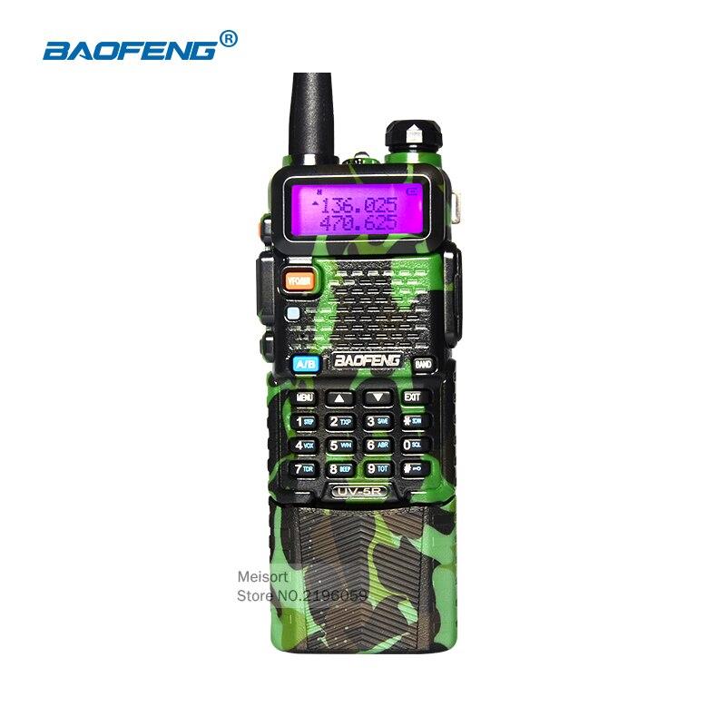 imágenes para BaoFeng BF-UV5R Walkie Talkie 10 km Camuflaje Comunicador de Radio CB 136-174/400-520 Mhz Dual Band con 3800 mAh batería de Li-ion