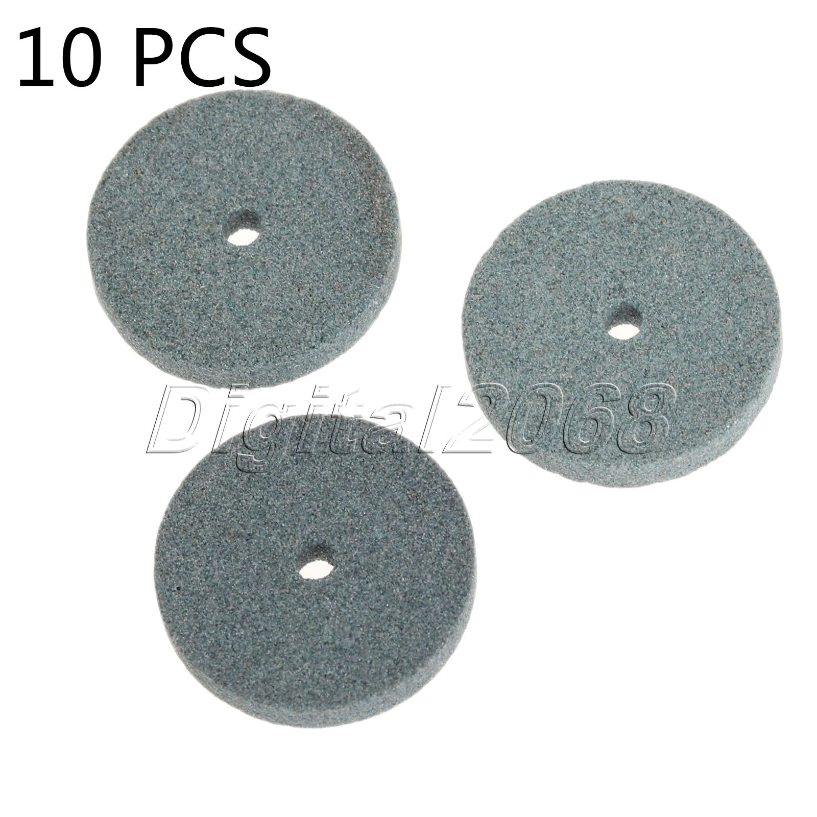10pcs Mini Green Grinding Wheel Polishing Mounted Stone