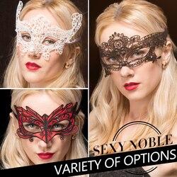 Livraison Gratuite 10 PCS Mode Sexy Broderie Dentelle Noire Masque Pour Les Yeux Masque Mascarade Mystérieux Masques Pour Halloween Party Fantaisie