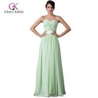 Grace Karin Cheap Long Mint Green Bridesmaid Dresses Under 50 Formal Dress Chiffon Prom Dresses 2015