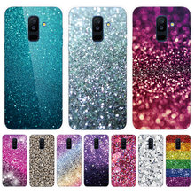 Heart Soft Phone Case For Samsung Galaxy A6 A8 Plus A5 A7 2018 A3 2017 2016 A6S A8S A9S A9 Star Pro lite Cover Fade Bling(China)